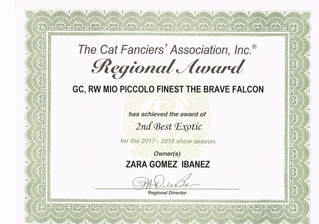 2nd Color CFA Region-9 Award