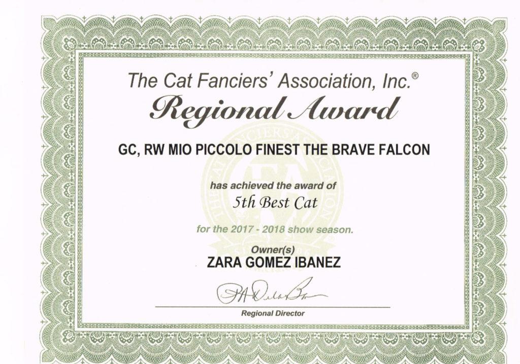 5th CFA Region-9 Award